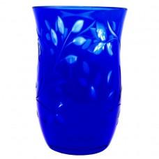 Ваза для цветов синее стекло алмазная грань СССР Винтаж Б/У 2938