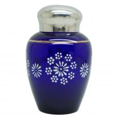 Чайница синее стекло СССР Винтаж Б/У 3162