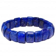 Браслет Лазурит натуральный синий на резинке 3199