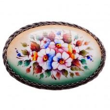 Брошь Цветы ростовская финифть Молодежная 1191