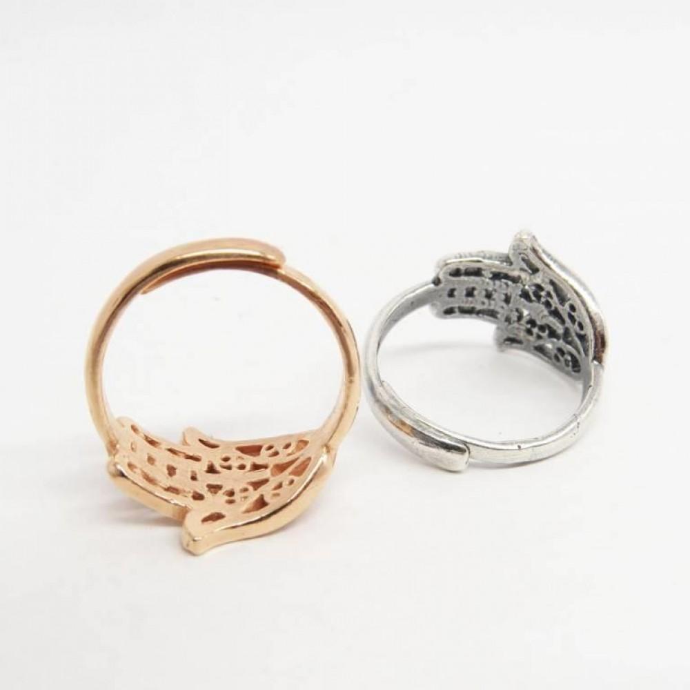 Кольцо Хамса филигрань позолота безразмерное 2305