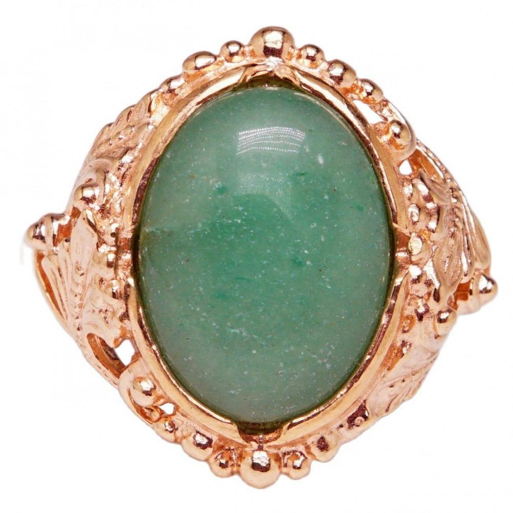 Кольцо Элизмея нефрит позолота 1275