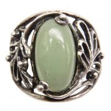 Кольцо Нефрит посеребрение 2194