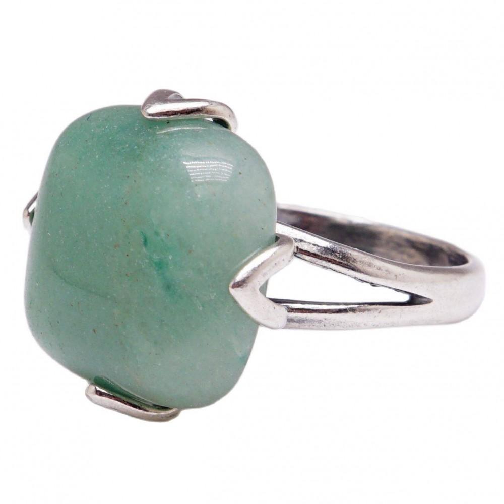 Кольцо нефрит посеребрение 2715