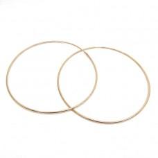 Серьги кольца большие позолота 1990