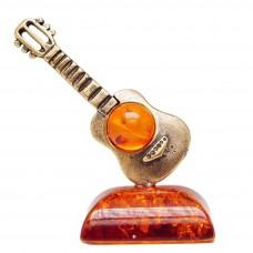 Фигурка Гитара маленькая (янтарь коричневый) 1172
