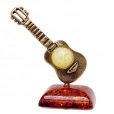 Фигурка Гитара маленькая (янтарь микс) 1172