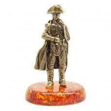 Фигурка настольная Наполеон янтарь бронза 2223