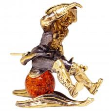 Фигурка Барон Мюнхгаузен (янтарь коричневый) 3071