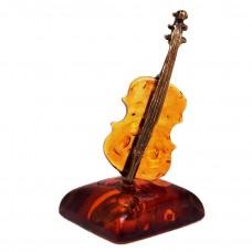 Фигурка миниатюрная Скрипка (янтарь коричневый) 514
