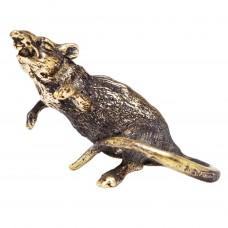 Фигурка Крыса восточная латунь бронза 1855