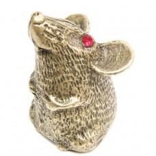 Фигурка Крыска толстая латунь бронза 1857