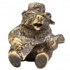 """Фигурка """"Медведь с балалайкой"""" латунь бронза 1887"""