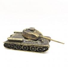 Фигурка Танк Т-34 бронза латунь крутящийся 2121