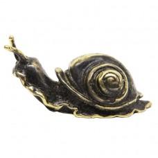 Фигурка Улитка латунь бронза 2205