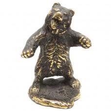 Фигурка Медведь на подставке бронза 2255