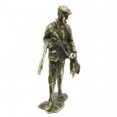 Статуэтка Охотник с уткой бронза латунь 2256