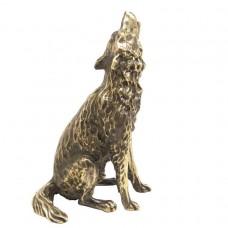 Статуэтка Волк воет (латунь, бронза) 2447