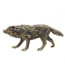 Фигурка Крадущийся Волк бронза 2488