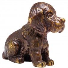 Фигурка собака Щенок бронза латунь 611