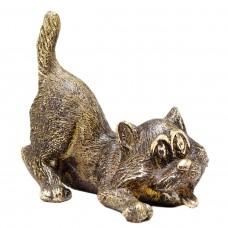 Фигурка Кот Игрун (бронза латунь) 629
