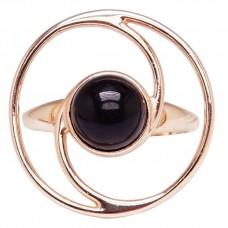 Серебряное кольцо янтарь вишня серебро 925 Ag 149