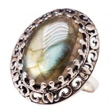 """Кольцо """"Классика"""" лабрадор серебро 925 Ag 170"""