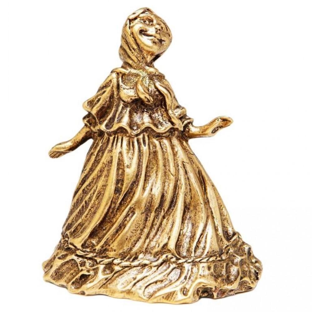 Колокольчик Девушка в косынке (латунь) 925