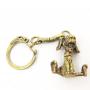 Брелок для ключей  ПЁС металл бронза 1087