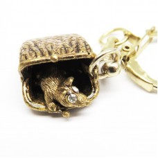 Брелок для ключей Мышь хранительница в кошельке