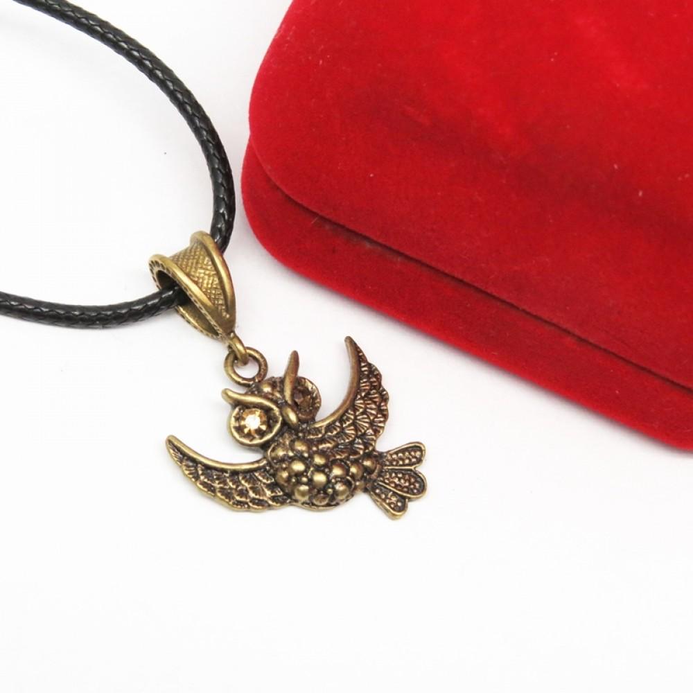 Кулон Совушка в бронзе 1396