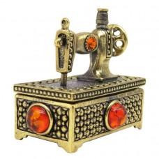 Игольница сундук Швейная машина янтарь коричневый бронза 2323