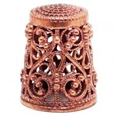 Напёрсток ажурный бронза красная 1023