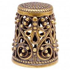 Напёрсток ажурный бронза чернение 1023