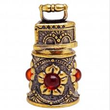Напёрсток магнитный Утюг янтарь бронза 2406