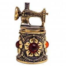 Напёрсток магнитный Швейная машинка янтарь бронза 2408