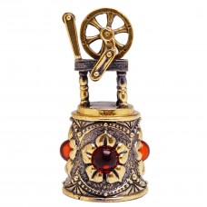 Напёрсток магнитный Веретено янтарь бронза 3059