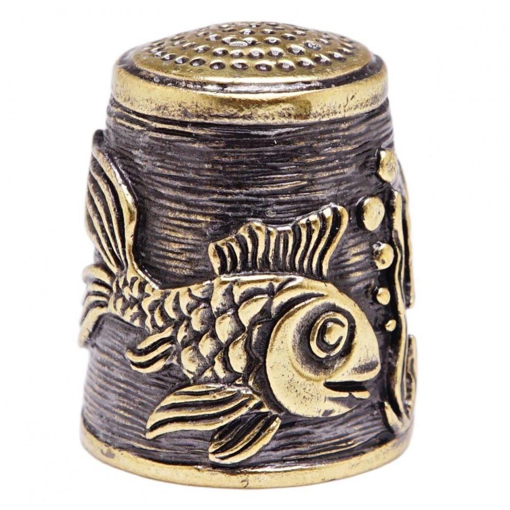 Наперсток Рыбы (латунь, бронза) 3109