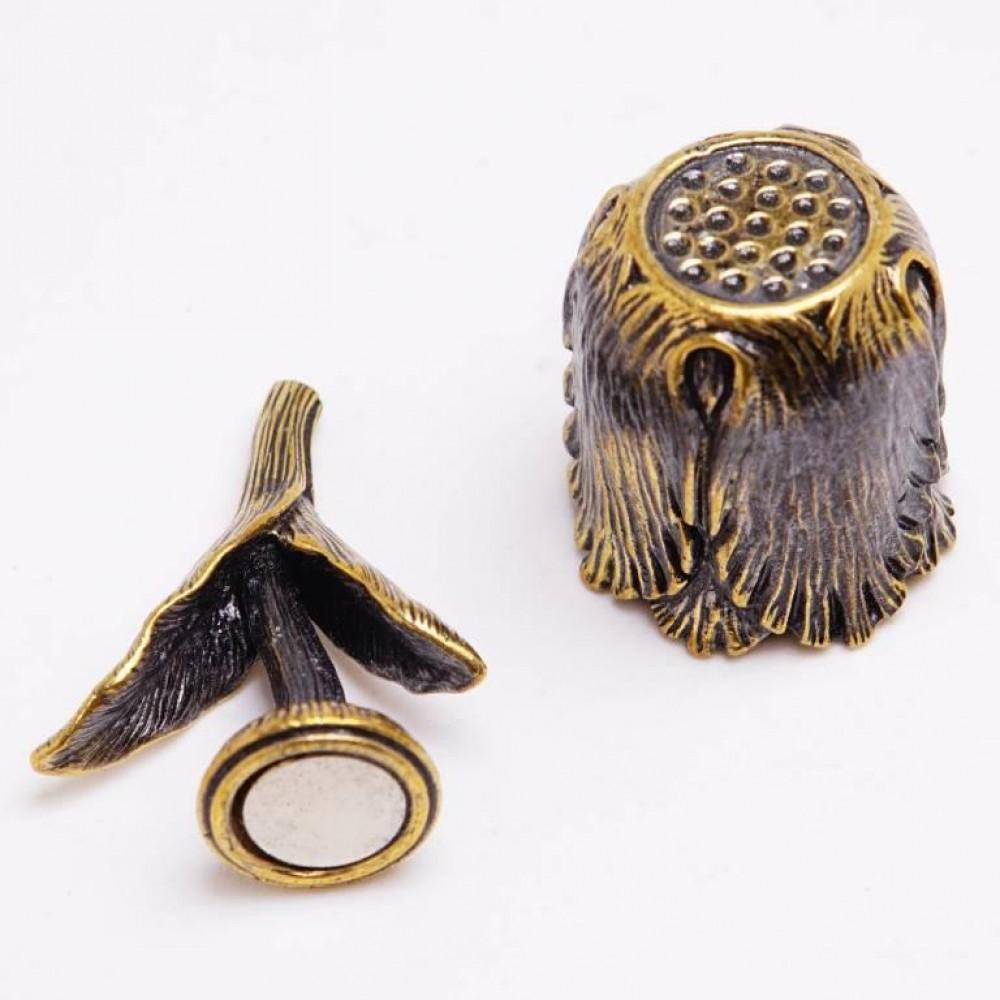 Напёрсток магнитный Тюльпан (латунь, бронза) 3420