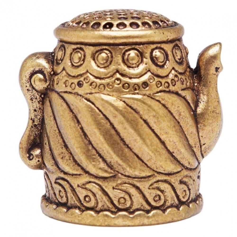 Напёрсток Чайник Волна (латунь, бронза) 368