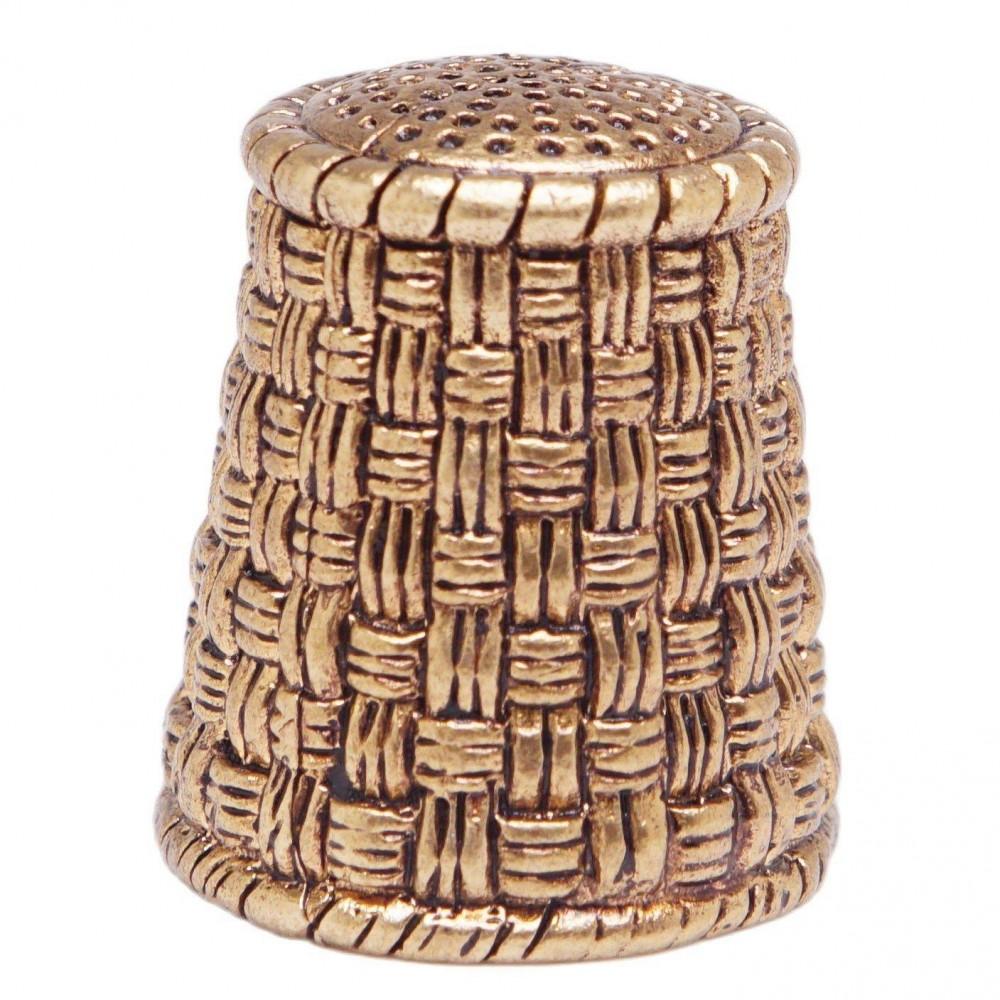 Напёрсток швейный Корзина (латунь, бронза) 663