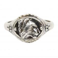 Кольцо мужское Тигр посеребрение 2158