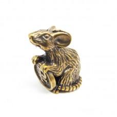 Кошельковая Мышка с рублём в бронзе 1323