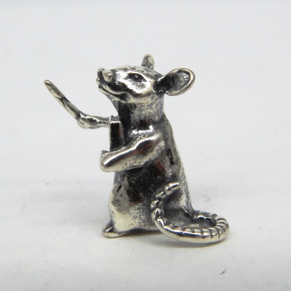 Кошельковая Мышка Учитель дирижер посеребрение 354
