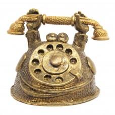Колокольчик Ретро Телефон бронза 2382