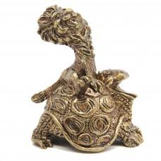 Колокольчик Львенок на Черепахе бронза 583